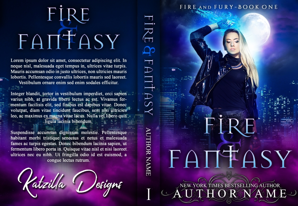Fire and Fantasy_paperback premade cover