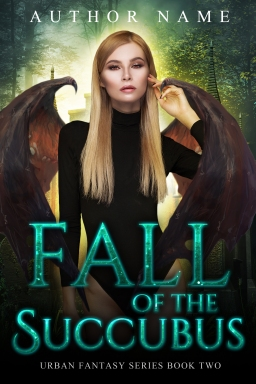 Fall of the Succubus_book three_premade cover