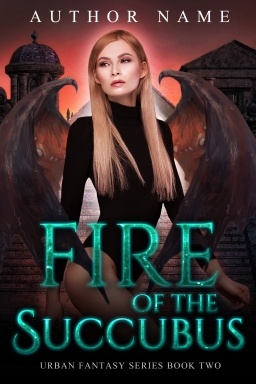 Fire of the Succubus_book two_premade cover