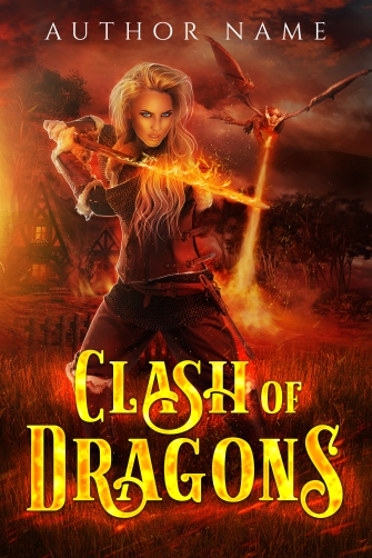 Clash of Dragons_Premade Cover_Ebook Cover